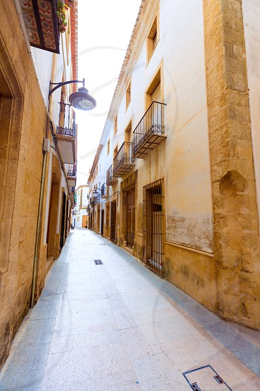 Javea Xabia old town Mediterranean streets in Alicante Spain photo