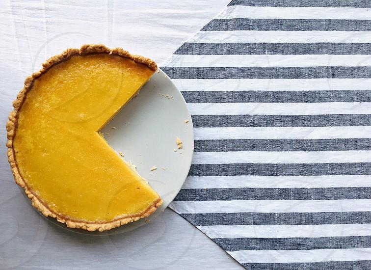 Yummy pumpkin pie photo