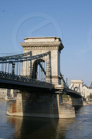 gray concrete bridge photo photo