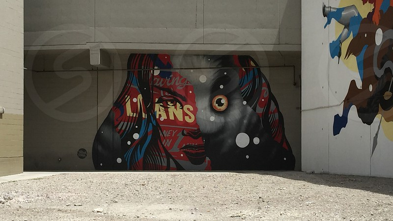 Street art graffiti wall face faces design graphics  photo