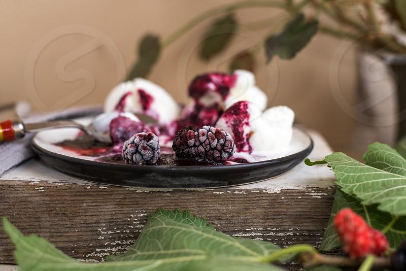 mulberry icecream photo