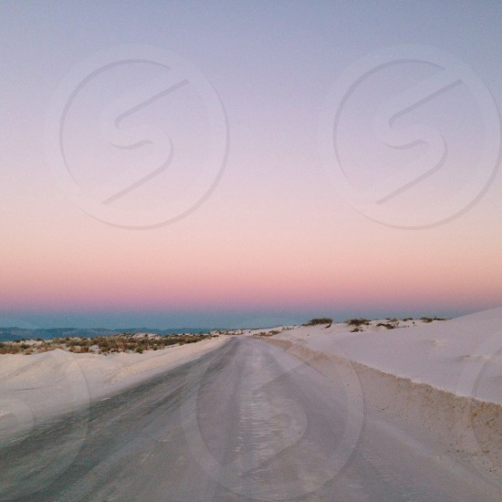Open road White Sands USA photo