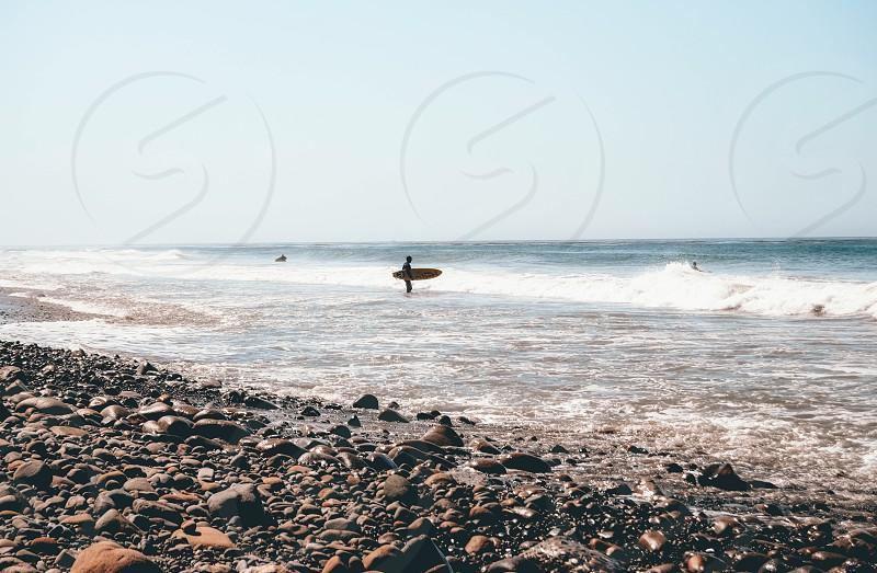 Surfer california malibu coast photo
