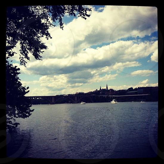 Washington DC area overlooking Georgetown. Potomac  photo