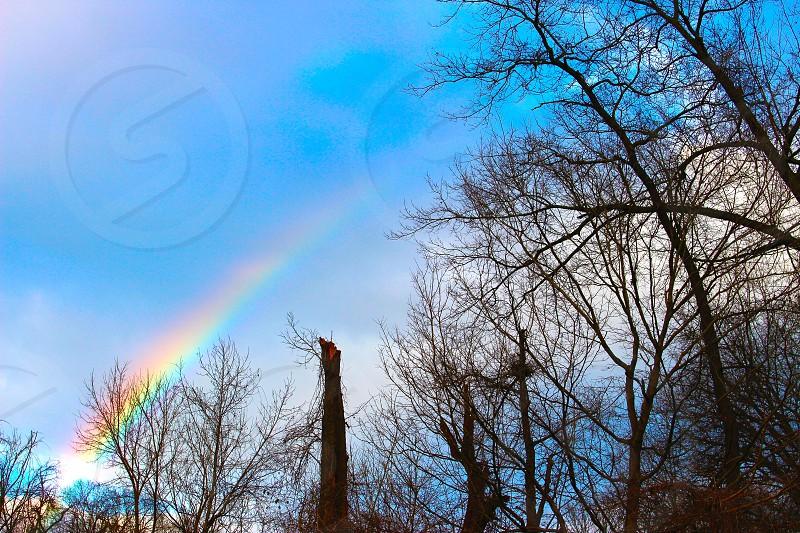 Rainbow peace nature harmony photo