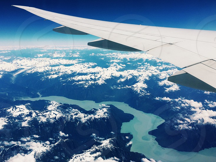 Flying over Vancouver.  photo