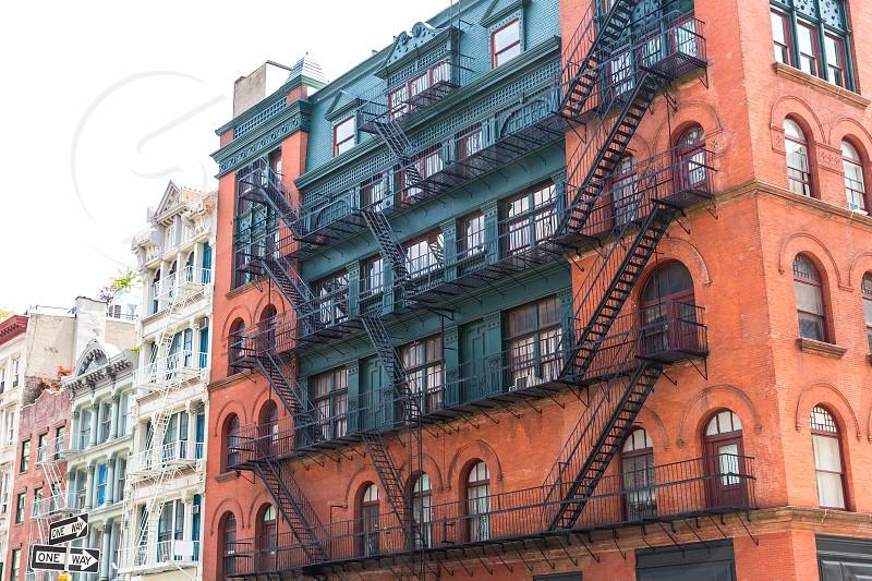 Soho buildings facade in Manhattan New York City NYC USA photo