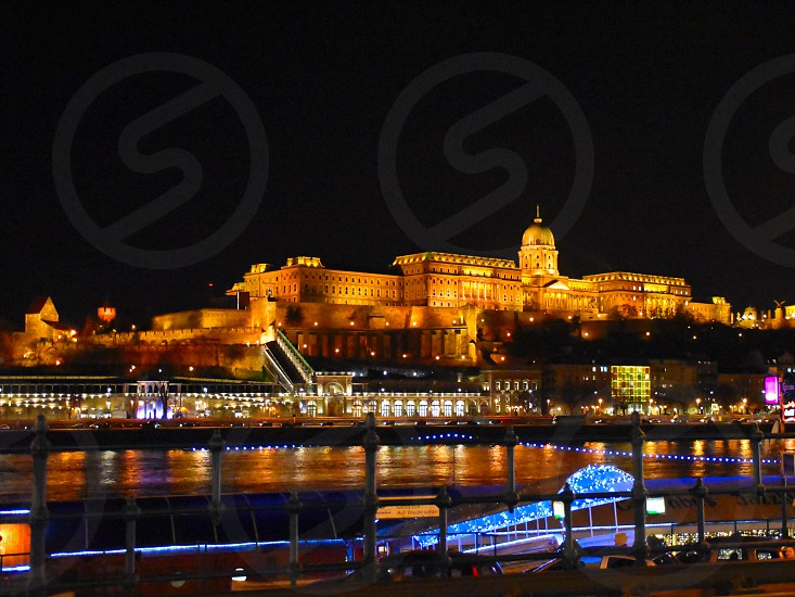 Festive illumination in Budapest. photo