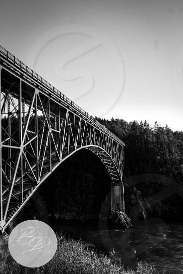 Bridge  black and white architecture pacific northwest  love beautiful trees washington deception pass photo