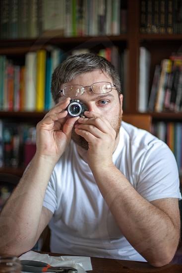 Camera eye photo