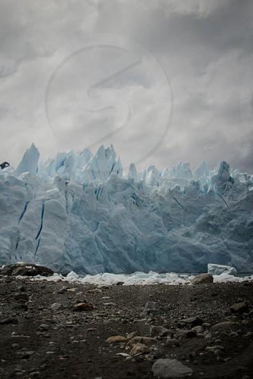 white glacier view photo