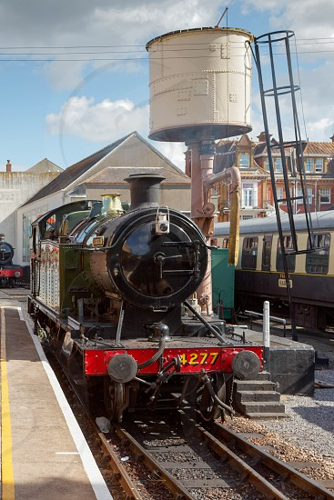 PAIGNTON DEVON/UK - JULY 28 : 4277 BR Steam Locomotive GWR 4200 Class 2-8-0T Tank Engine at Paignton Devon on July 28 2012 photo