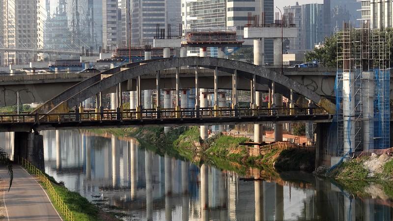 Monorail construction São Paulo SP Brazil. photo