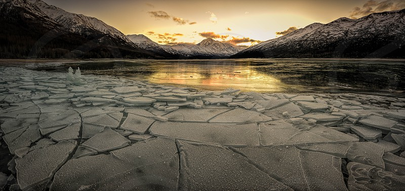 Eklutna anchorage ice lake Alaska photo