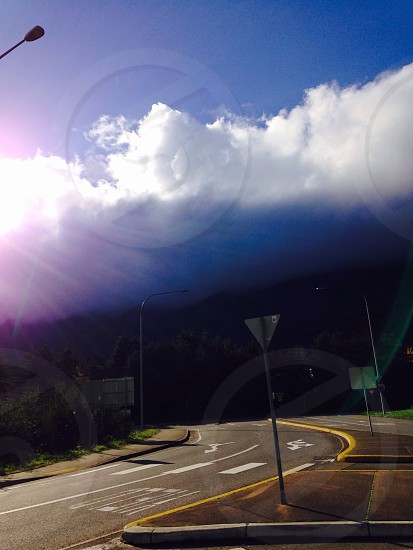 white thick clouds photo