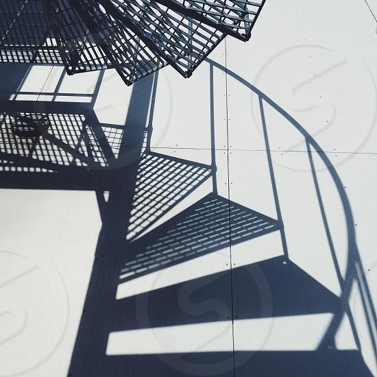 round stairs silhouette photo