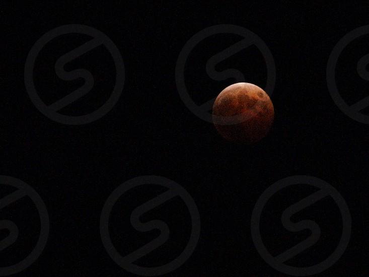 皆既月食 銅色 photo