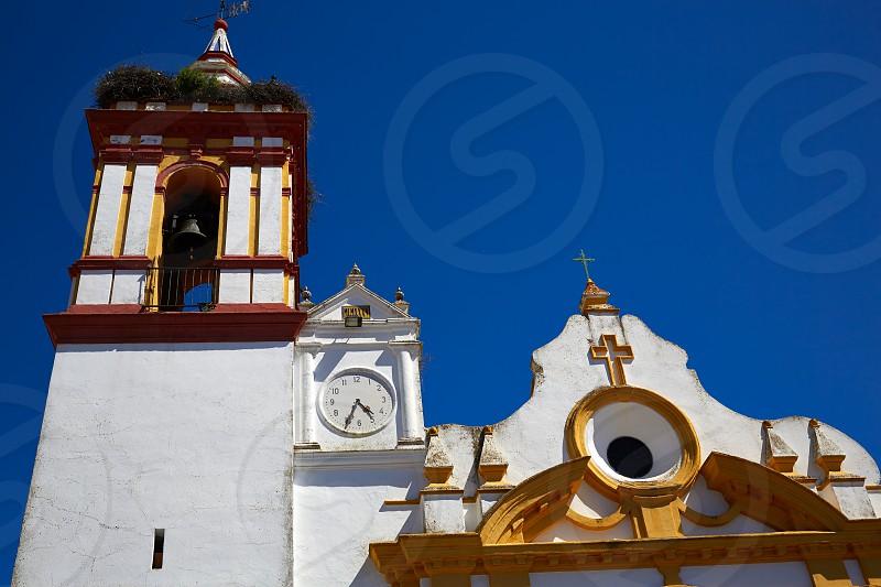 Castilblanco church by via de la Plata way of Spain in Andalusia photo
