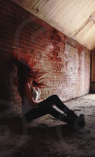 When shadows leave us - self portrait  photo