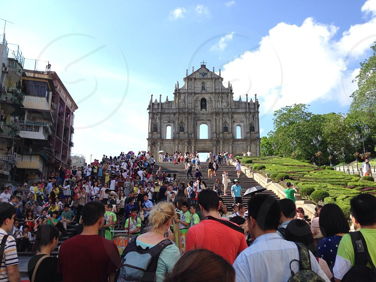 Ruins of church in Macau photo