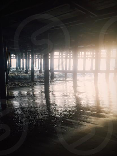 sea dock underground view photo