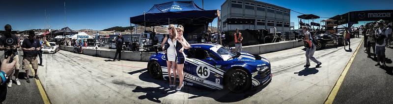 Car models at Laguna Seca CA 2013 photo