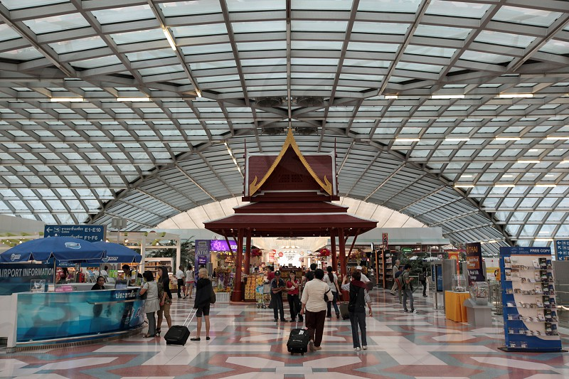 the International Suvarnabhumi Airport in the city of Bangkok in Thailand in Suedostasien. photo