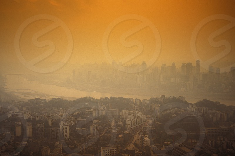 the city of Chongqing in the province of Sichuan in china in east asia.  photo