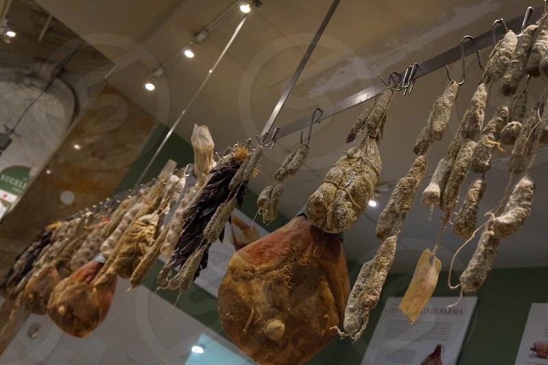 fresh meat inside meat shop photo