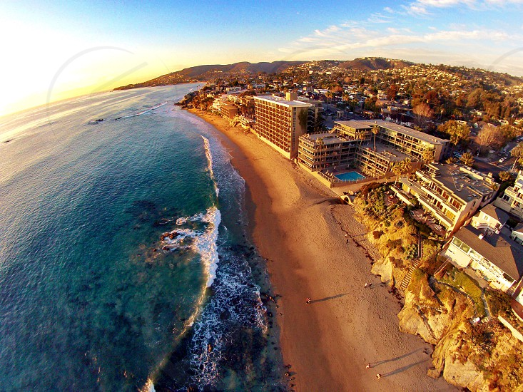 Overlooking Laguna Beach coast.  photo