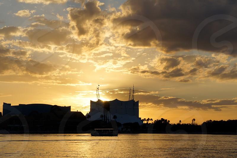 Downtown Disney at sunset photo