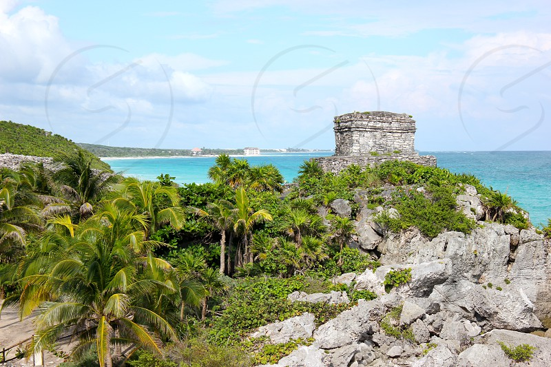 Mayan ruins in Tulum Mexico photo