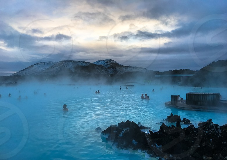 A view the blue lagoon @ Keflavik Iceland. photo