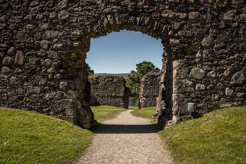 old castle gate photo