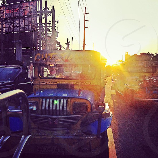 Jeepney-The King of the Road in Manila. photo