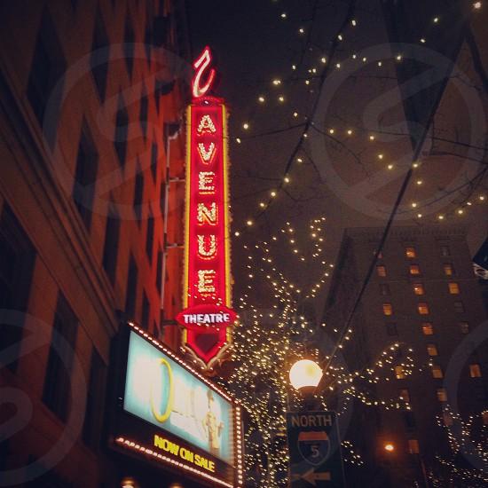 5th Avenue Theatre; Christmas Time Seattle Washington photo