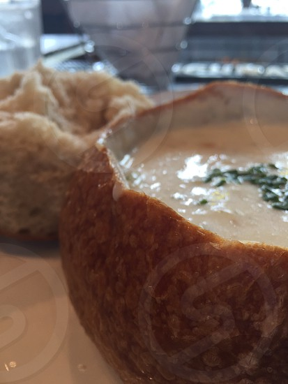 Bread bowl chowder San Francisco  photo