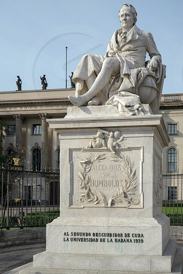 Humboldt statue outside Humboldt University in Berlin photo