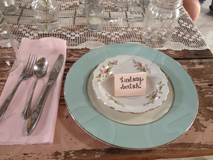 stainless steel kitchen utensils on table  photo
