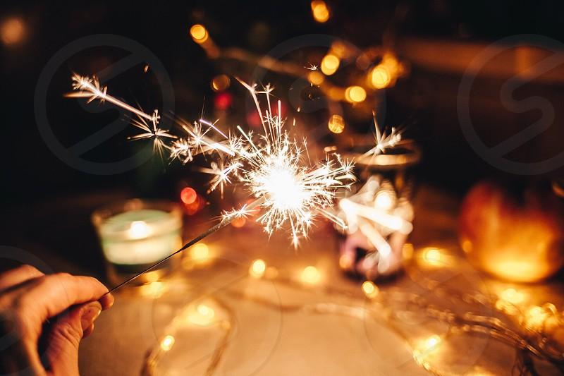 New Years lights photo
