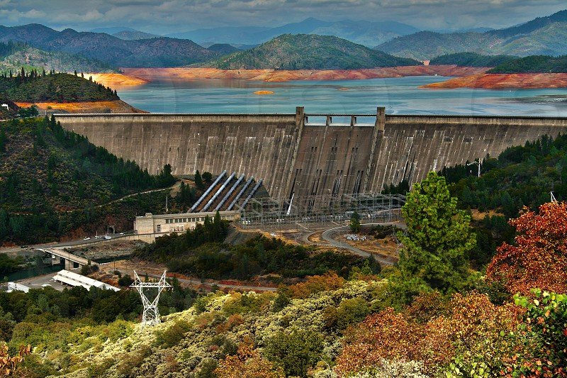 Shasta Dam Hydro Electric Plant Shasta County CA photo