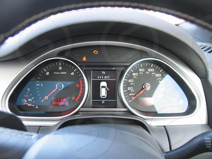 Car dashboard console automobile displays controls photo