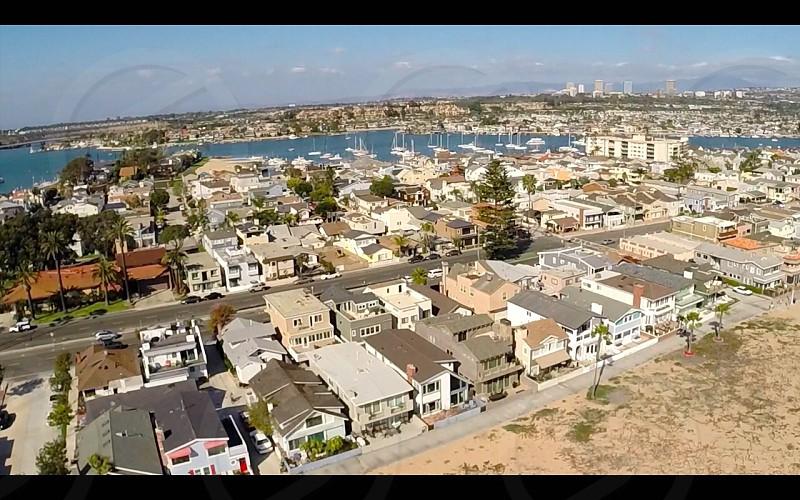 Aerials of Newport Beach CA photo