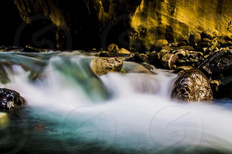 Box canyon falls Ouray Colorado  photo