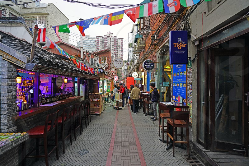 Tianzifang in Shanghai China photo