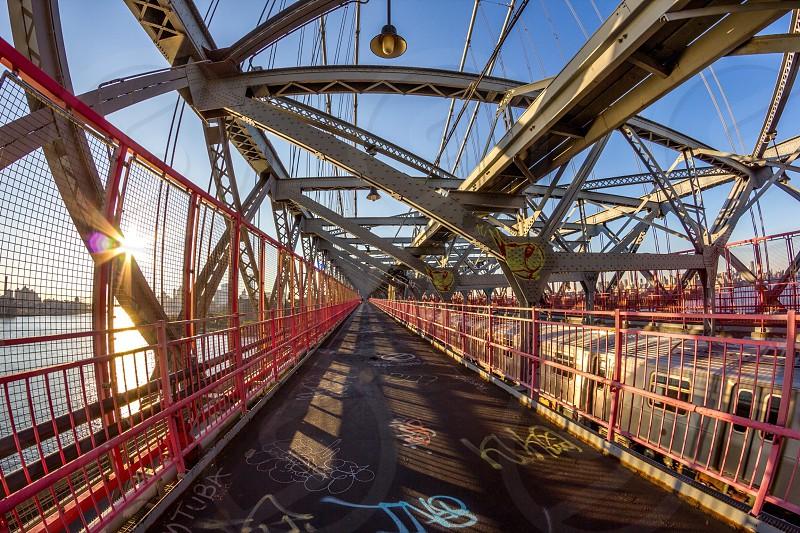 view of suspension bridge photo