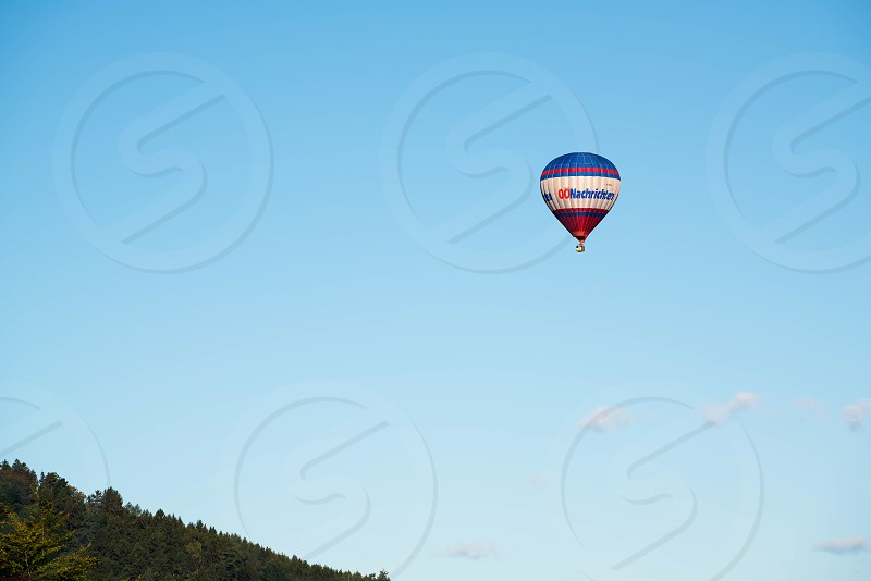 Hot Air Ballooning over St Georgen in Austria photo