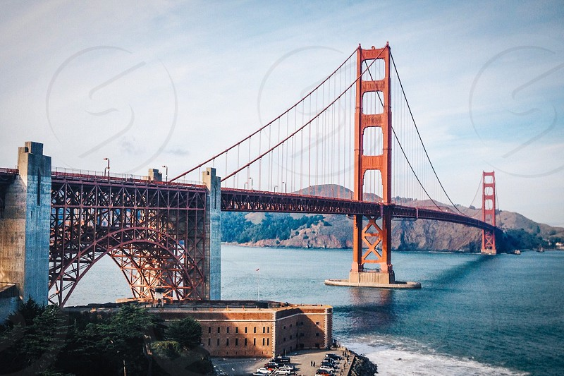 Golden Gate Bridge San Francisco California bridges transportation landscape historical landmark  photo
