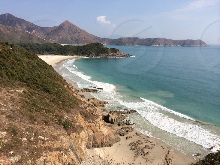 The other side of the steel glass and press of humanity in Hong Kong are the areas astounding beaches. photo