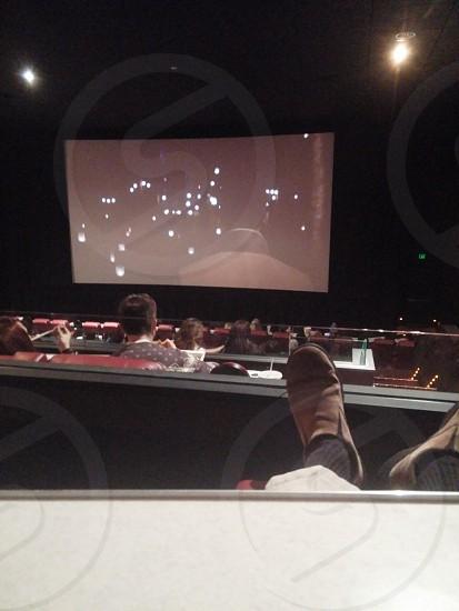 At the movies. photo
